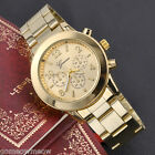 37mm Womens Lady Stainless Steel Quartz Analog Wrist Watch,Gold-tone/Silver-tone