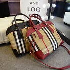 Canvas+PU leather plaid Tartan women's shoulder bag handbag Tote Hobo Gift purse