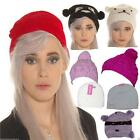 LADIES BEANIE HAT flower pom pom