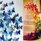 12/24/36/48pcs 3D Artificial Butterfly Wall Sticker Decal Pin Home Garden Room