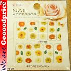 Color Printing Water Tranfer Nail Art Stickers Gift Red Sun Flower Style 6-39