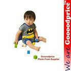 Batman Baby Costume Short Sleeve Romper One-Piece Outfit Detachable Cape NEW