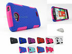 LG Tribute |Transpyre| Optimus F60 Rubberized Mesh Hard/Soft Case Cover+PryTool