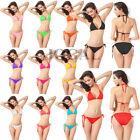 Sexy Women Solid Triangle Bikini SET Push-up Bra Swimsuit Bathing Suit Swimwear