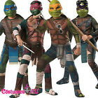 Mens Licensed TMNT Costume Teenage Mutant Ninja Turtles Movie Deluxe Fancy Dress