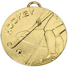 HOCKEY MEDAL 50mm GOLD SILVER & BRONZE WITH FREE MEDAL RIBBON AM1014R.01