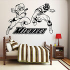 PERSONALISED POWER RANGERS Wall Art Transfer Boys Bedroom Sticker Vinyl Decal