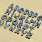 DIY Alloy 8mm Full Rhinestone Slide Letter A-Z DIY Bracelet Pet Collars Charms