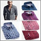 Plaid Color Contrast Men Long Sleeve Korean Slim Design Male Casual Shirts WFR