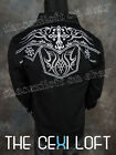 New VICTORIOUS BLACK Tribal Crosses Button Down Shirt ROAR with Class!