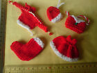 Dress, Hat, Bag, Pudding, Cupcake, Tree, Knitted Christmas Card Toppers P&P FREE