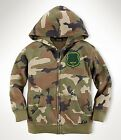 POLO RALPH LAUREN Toddler Boys Kids Camo 2T 3T 4T Fleece Hood Jacket Coat NEW
