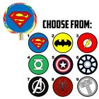 63 Superhero Logo Birthday Favor Lollipop Stickers - 1