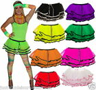 GIRLS NEON TUTU SKIRT 80'S FANCY DRESS rara