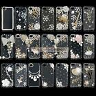 Luxury Crystal Diamond Bling Clear Hard Plastic Case For Apple iphone 4 5S 5G 5C