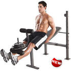 Golds Gym 100 lb Weight Set Bench Press Weights Lifting Barbell Exercise Plates
