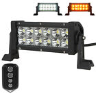 Waterproof Remote Control Dimmable 36W 12X LEDs Bar Offroad Car LED Work Light