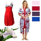Ladies Sexy Soft Silky Kimono Dressing Gown Housecoat Bathrobe Mothers Day Gift