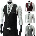 Hot Men's Career Slim Waistcoat Fit Formal Dress Vest Blazer Suit Jacket Coat