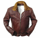 Mens German Pilot flight Jacket horsehide Focke Wulf brown horse WW2 flying s m