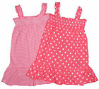 Baby Girls Sun Dress pack of TWO one Striped and one Spotted 0-3m up to 18-24m