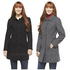 NWT Merona Women's Stylist Long Wool Coat Winter Jacket Gray or Black Size S