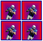 AMERICAN FOOTBALL- FUN SET OF NOVELTY COASTERS - SETS OF 4, 6 OR 8 - EASY CLEAN
