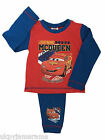 Infant Boys Babies Disney Cars Lightening McQueen Long Pyjamas NEW 1 2 3 4 yr