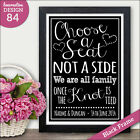 PERSONALISED Chalkboard Wedding CHOOSE A SEAT NOT A SIDE Seating Ceremony SIGN