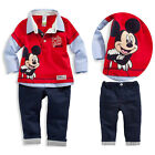 Children Baby Kids Boy Mickey mouse 2pcs Outfits Hoodies+Pants Tracksuit 1-5Year