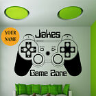 GAME CONTROLLER PAD WALL ART STICKER BOYS PERSONALISED BEDROOM VINYL TRANSFER