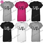 Womens Ladies Zalfie Print Stretch Baggy Oversize Short Sleeve T Shirt Plus Size