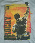 "NEW MENS ""ROCKY BALBOA"" T SHIRT Boxing Boxer Movie Character Raised Fist Gry Tee"