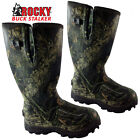 ROCKY Mens Camo Wide Calf Fit Wellington Rubber Boots Fishing Hunt Muck Wellies