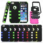 For iphone 6 4.7 rugged case Black Hybrid Shockproof Hard Heavy Duty Cover Skin
