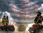 Внешний вид - The Fireman's Prayer/Poem Personalized Print *2 ART BACKGROUNDS TO CHOOSE FROM*