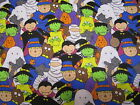 HALLOWEEN MONSTERS---men's tieback- OR BOUFFANT -SCRUB HAT/ MEDICAL / SURGICAL