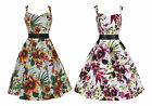 1950s Retro Vintage Orchid Floral Flared Party Prom Bridesmaid Dress New 8 - 26