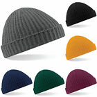 Trawler Fisherman Docker Style Ribbed Cuffed Knitted Wooly Beanie Hat