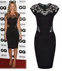 Womens Ladies Sexy Lace Bodycon Slim Cut Party Pencil Cocktail Slim Dress Skirt