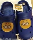 New Despicable Me Minions boys blue rubber beach summer holiday shoes sandals