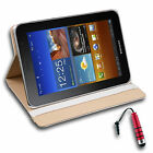 Synthetic Leather Case Cover for Samsung Galaxy Tab Plus 7.7 P6800 + Stylus R