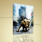 Stretched Canvas HD Print Art Wall Street Bull Fierce Abstract Modern Painting