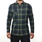 Volcom Men's Pablo II Long Sleeve Check Collared Shirt - AW14: Vineyard Green