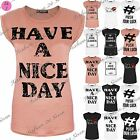 Womens Ladies Sexy Short Turn Up Stretchy Cap Sleeve Celebs Tee T Shirt Top