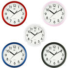 Trevi Wall Clock Silent Ticking 25cm 5 Colours Available  FREE DELIVERY