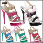 Sexy Women's Ladies High Heels Sandals Casual Summer Shoes Size 3,4,5,6,7 UK New