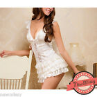 Sexy White Cream Chemise Nightie Nightwear Lingerie Nightdress Sleepwear Dress S