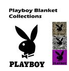 Playboy Plush Mink Blanket Zebra/Leopard Collections Queen Size 79x94