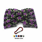 Stretch Flower Bow Glass Bead Hair Head Comb Cuff Double Clip Gift + Hook